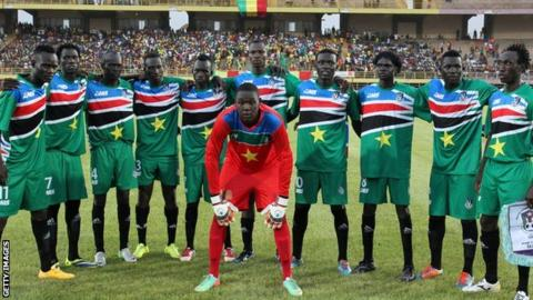 South Sudan's players