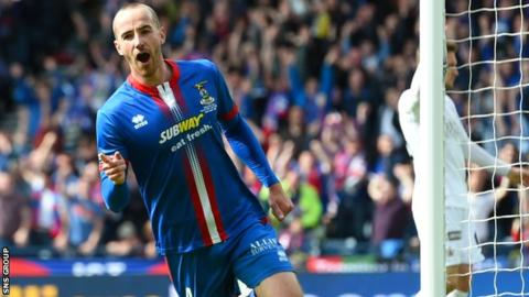 James Vincent scored the winning goal in last year's Scottish Cup final