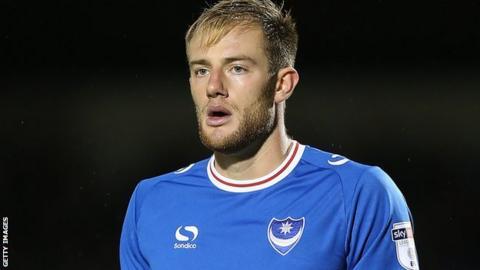 Portsmouth centre-back Matt Clarke