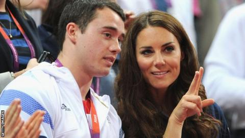 Kristian Thomas and the Duchess of Cambridge