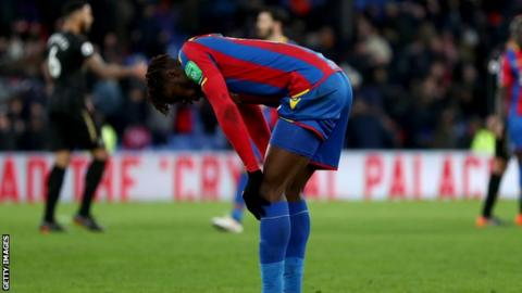 Wilfried Zaha vows to bounce back from injury setback