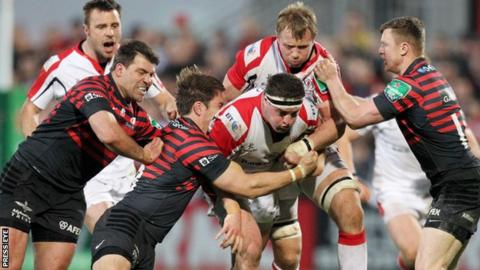 Saracens inflicted a rare home defeat for Ulster in the 2014 quarter-final
