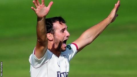 Somerset fast bowler Lewis Gregory