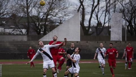 Edinburgh City and Montrose players