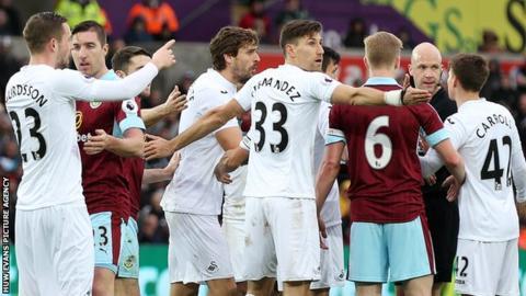 Swansea City v Burnley