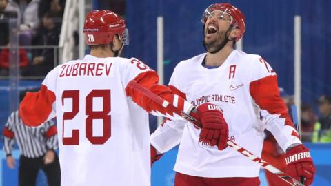 Ilya Kovalchuk celebrates scoring