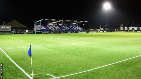 A view of the main stand at Holker Street
