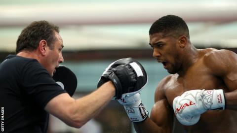 British heavyweight boxer Anthony Joshua