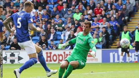 Aden Flint scores for Cardiff City