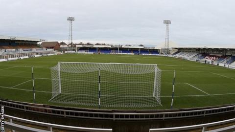 Victoria Park, Hartlepool from inside the stands
