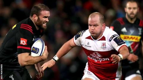 Callum Black (right) in action for Ulster