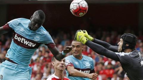 Kouyate scores West Ham's opener