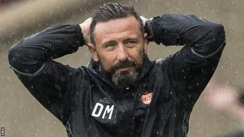 Derek McInnes looks frustrated after Aberdeen's Scottish Cup final loss to Celtic