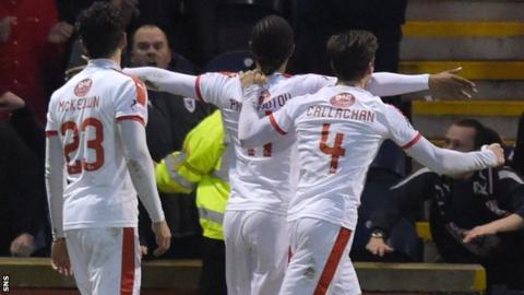 Harry Panayiotou celebrates his winning goal
