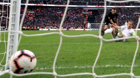Harry Kane scores against Croatia