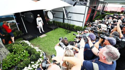 Lewis Hamilton in Australia
