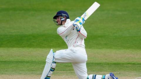 Lancashire's Liam Livingstone made a fifty on his first-class debut against Nottinghamshire last month