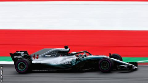 Lewis Hamilton in action at the Austrian Grand Prix