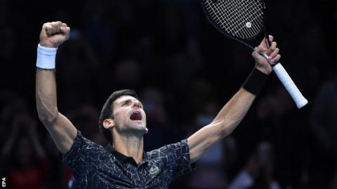 ATP Finals: Novak Djokovic beats John Isner in group opener - BBC Sport