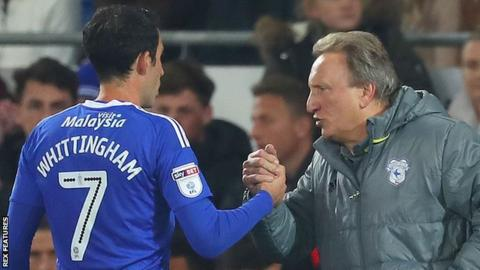 Neil Warnock (right) with Peter Whittingham