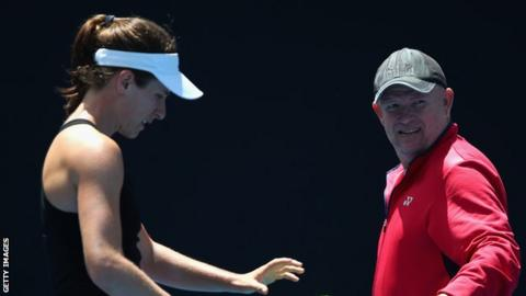 British number one Konta splits with coach Joyce