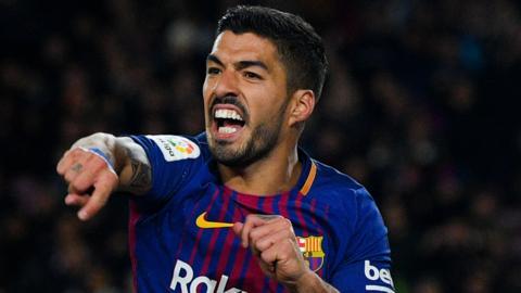 Barcelona's Luis Suarez