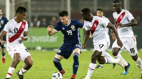 Lewis Morgan in action for Scotland