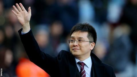 Villa owner Dr Tony Xia was at Villa Park for the home win over Ipswich Town in November