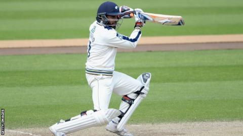 Yorkshire's Adil Rashid bats