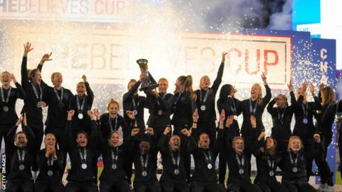 England women lift the SheBelieves Cup