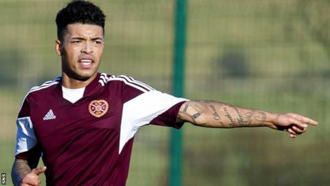 Callum Tapping in action for Hearts
