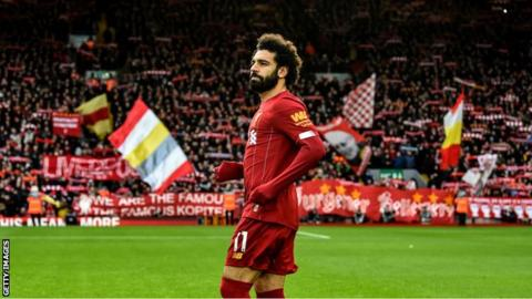 Salah reacts to Liverpool Player of the Month award