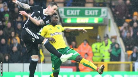 Stefan Johansen playing for Fulham against Norwich