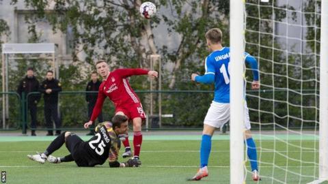 Lewis Ferguson's late goal sealed Aberdeen's progression