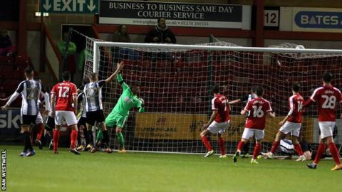 Michael Raynes score against Notts County