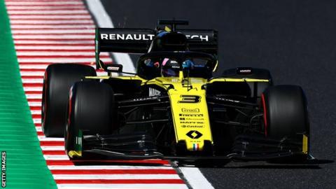 Daniel Ricciardo in the Japanese Grand Prix