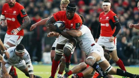 Maro Itoje impressed in the Saracens pack