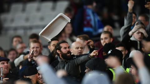Crowd trouble as West Ham beat Chelsea