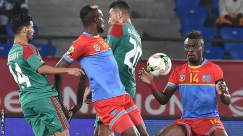 "Gabriel Zakuani (right) says DR Congo are a ""close-knit"" team"