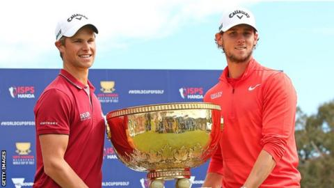 Belgium's Thomas Pieters and Thomas Detry