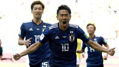 Shinji Kagawa of Japan celebrates