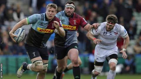 Alex Dombrandt playing for Harlequins