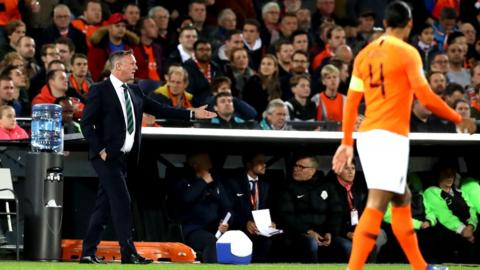 However, defeats at home to Germany and away to the Netherlands derailed O'Neill's hopes of automatic qualification for the European finals