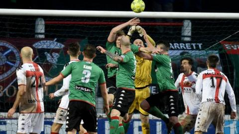 Just two points separate Crusaders and Glentoran after eight games this season