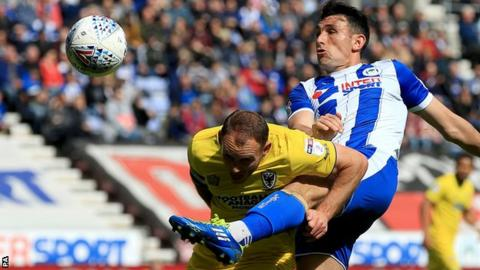 Gary Roberts in action for Wigan Athletic