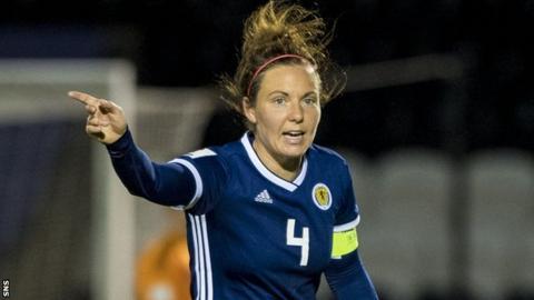 Rachel Corsie in action for Scotland