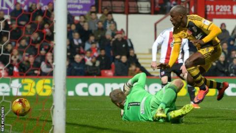 Sone Aluko scores for Fulham
