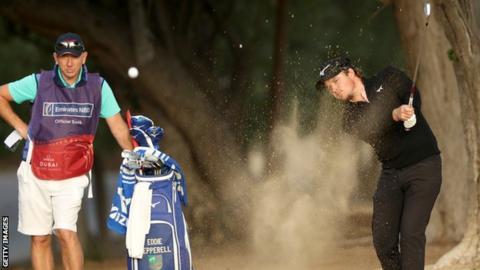Golfer Eddie Pepperell in action