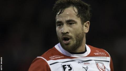Danny Cipriani playing for Gloucester