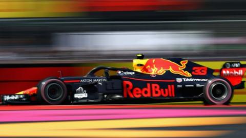 Verstappen on top again after damp start